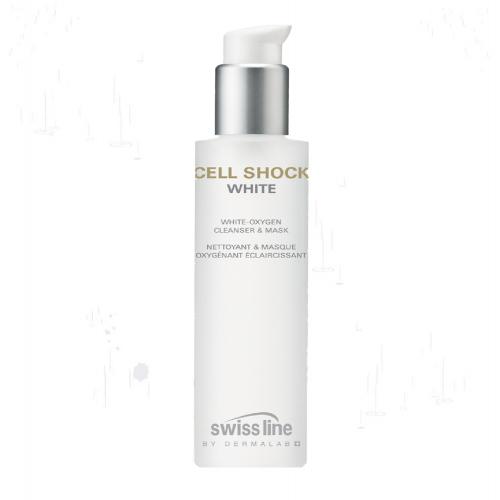Sữa rửa mặt trắng sáng da và kiêm mặt nạ tinh khiết Swissline cell shock white oxygen cleanser mask