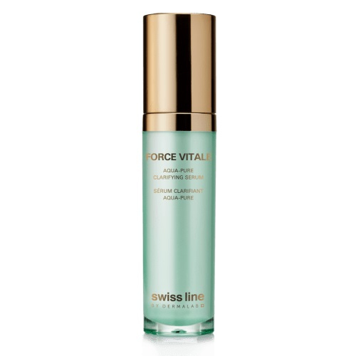 Huyết thanh trị mụn viêm cân bằng dầu và se khít chân lông Swissline force vitale aqua pure clarifying serum